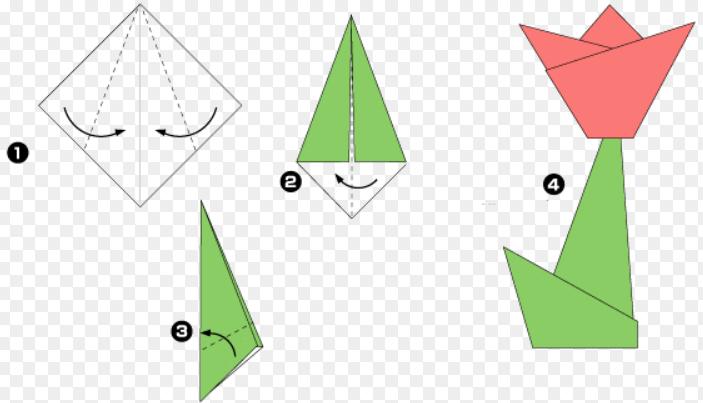 Как сделать тюльпаны из бумаги схема легко