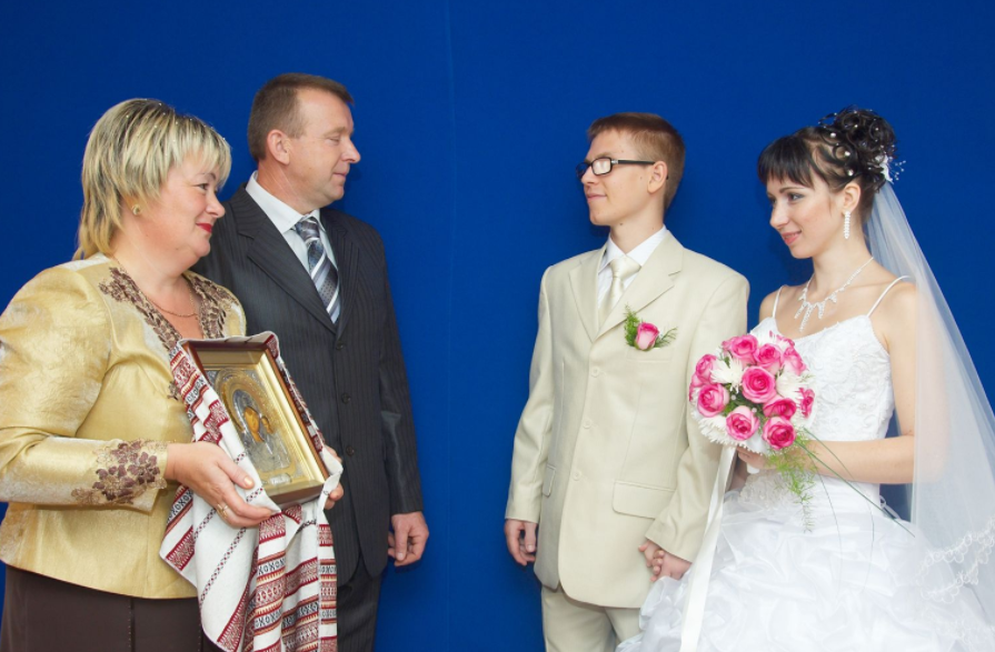 Как благословлять сына перед свадьбой фото