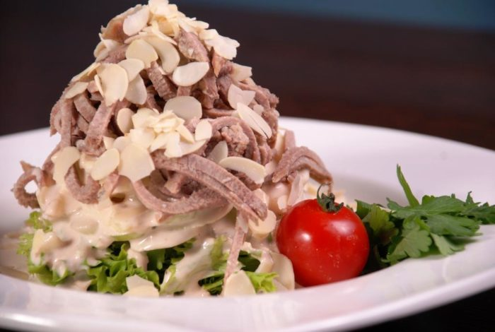 Салат с языком и хреном рецепты