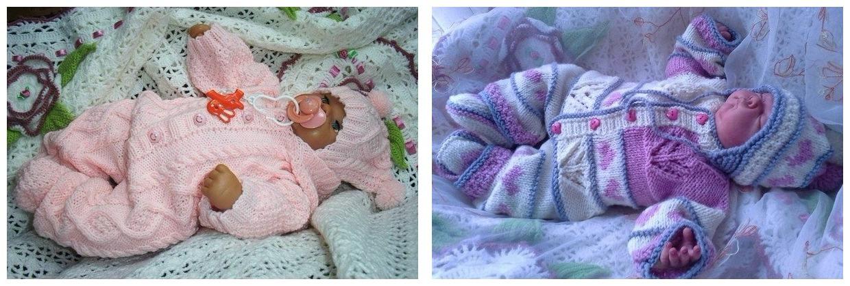 как связать детский комбинезон своими руками для новорожденных и