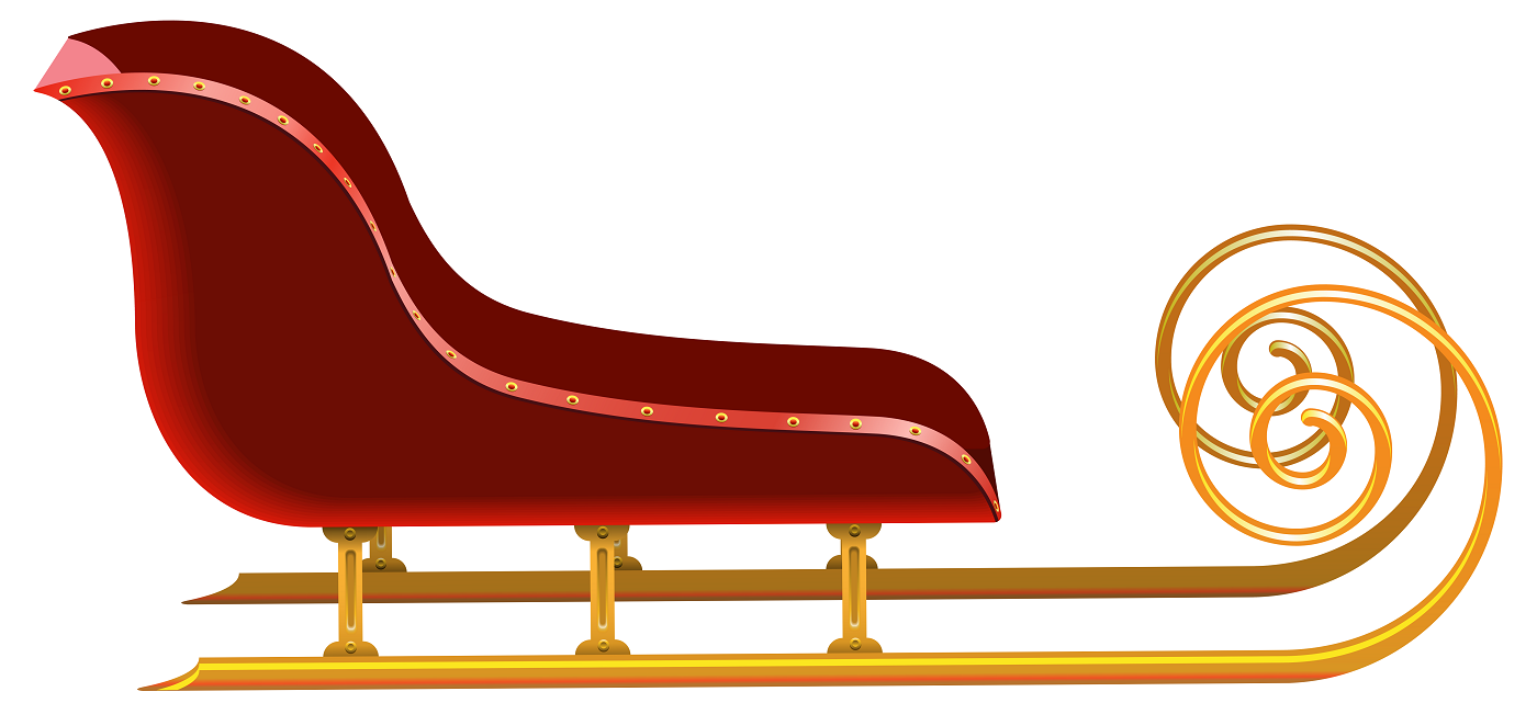 Red_Sleigh_PNG_Clip_Art_Image