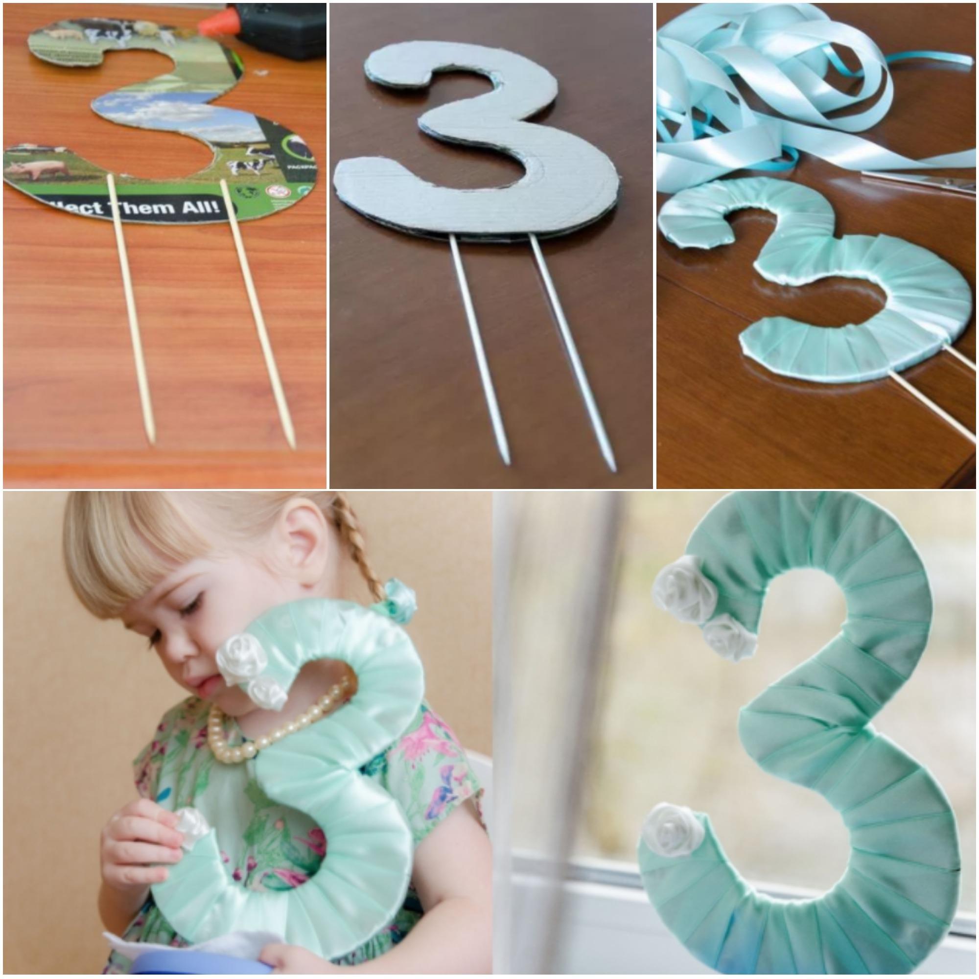 Цифры на день рождения своими руками Активная мама 68