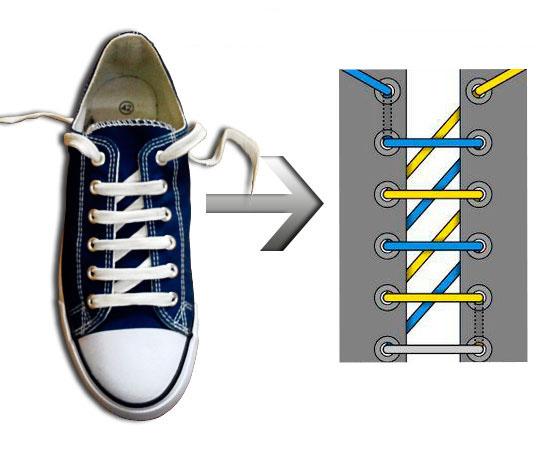 5e4a6861 Как красиво шнуровать обувь: способы как можно шнуровать кроссовки ...