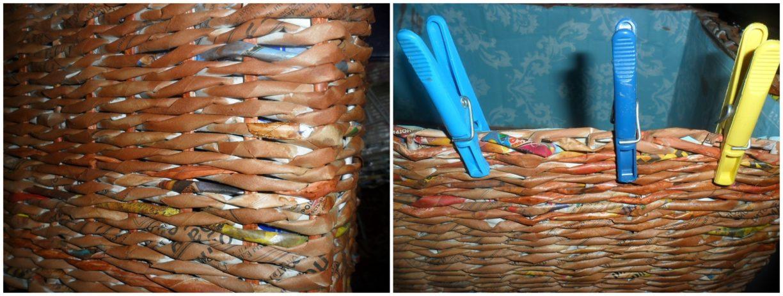 Плетение из журнальных трубочек для начинающих пошагово фото