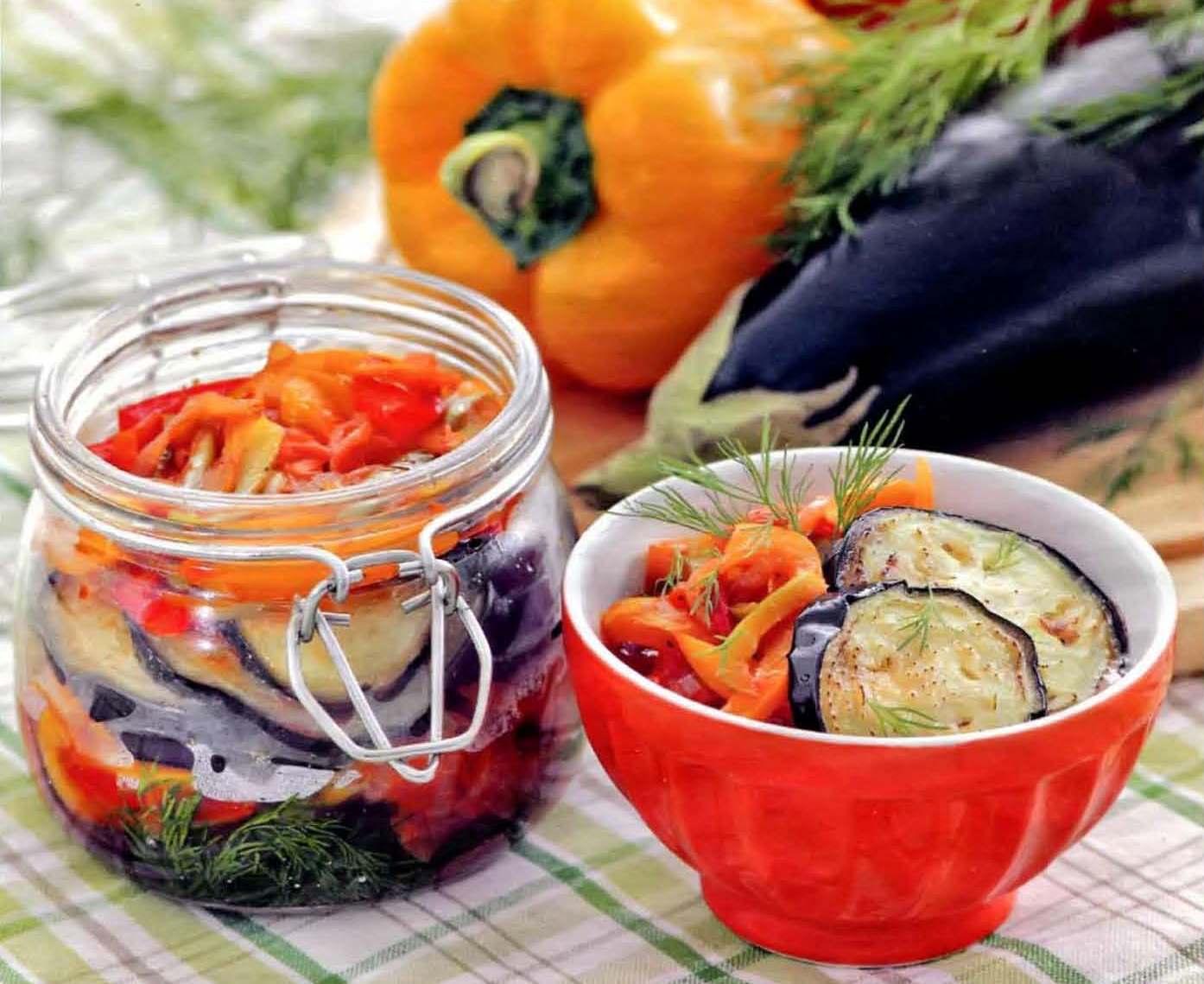 салат заготовки с баклажанами