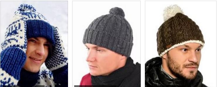 Мужская шапка с помпоном спицами схема фото 717
