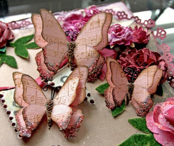 Фото бабочек из открытки