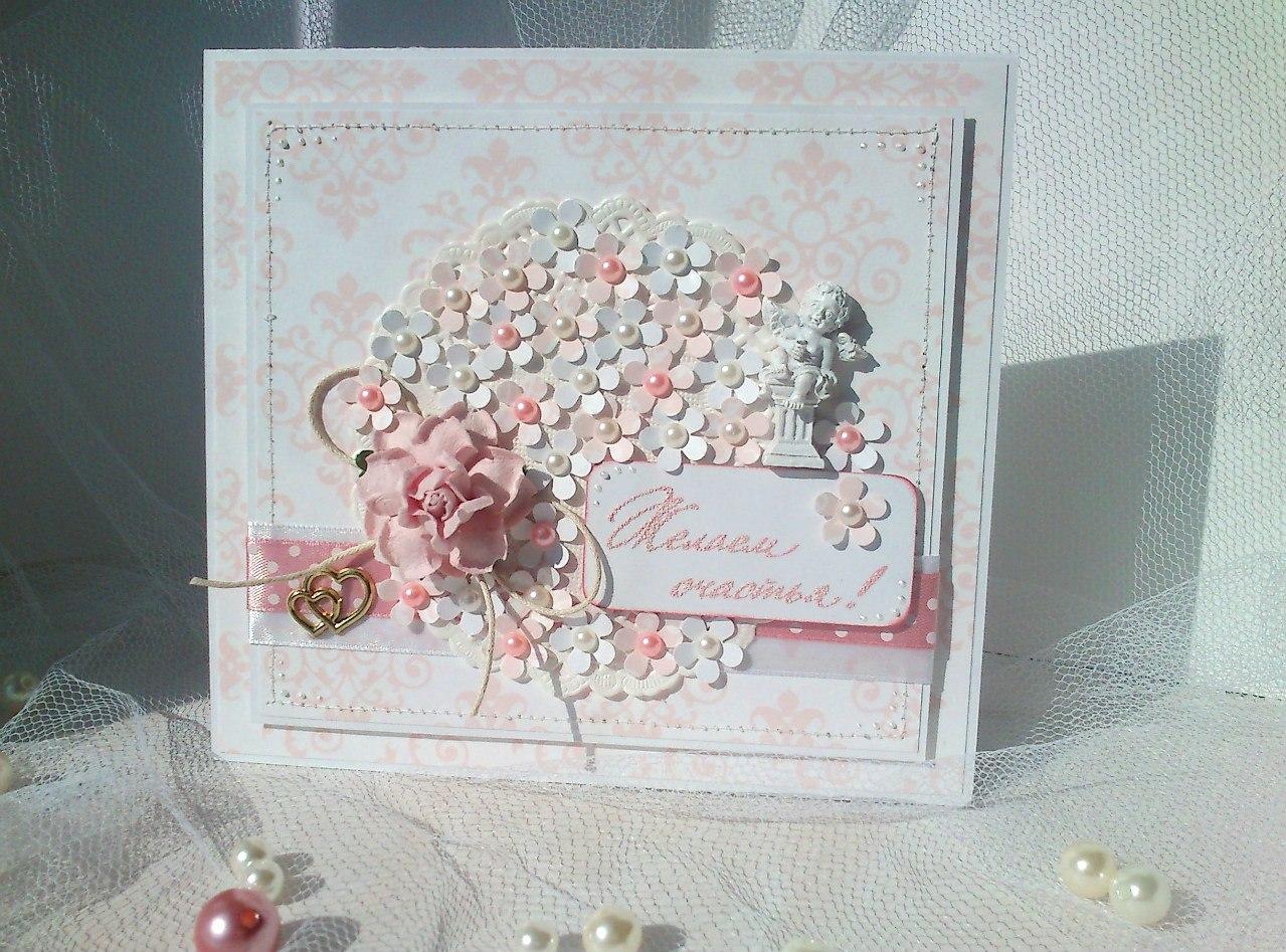 Свадебные открытки из скрапбукинга своими руками, для