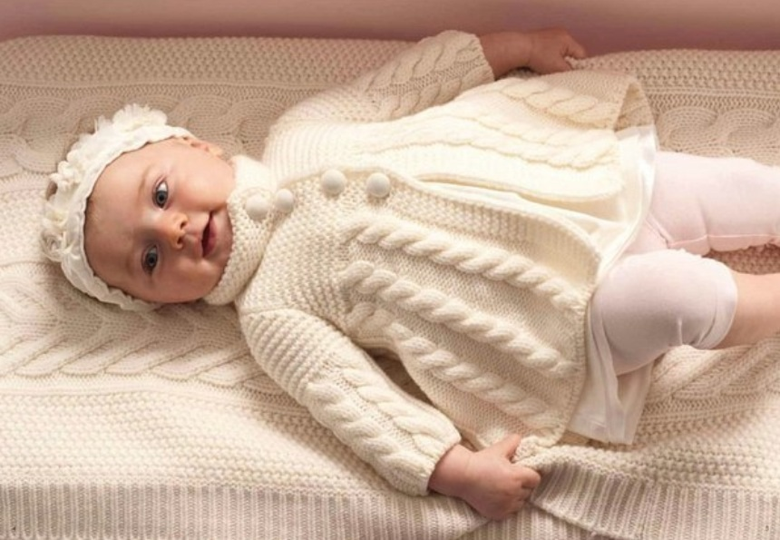 вязание спицами для детей от 0 до 3 лет с описанием и схемами как