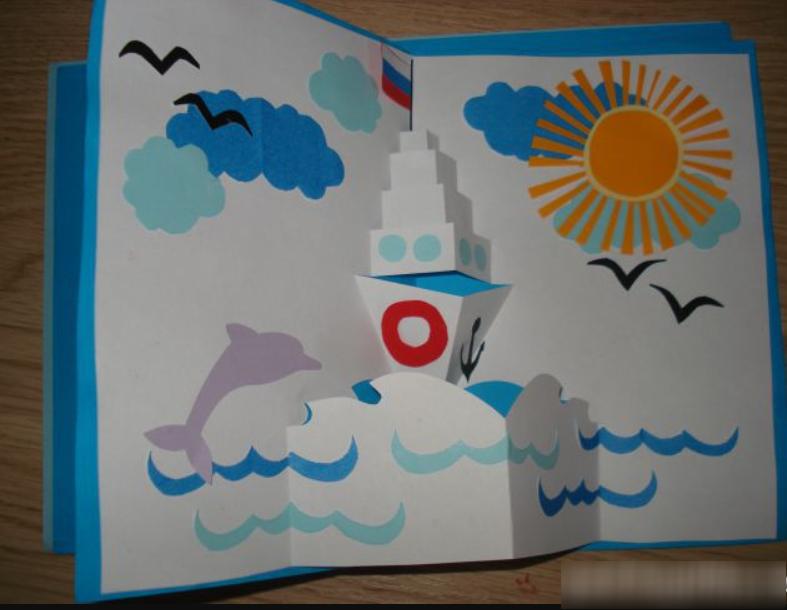 Открытки на 23 февраля детьми своими руками, открытки днем