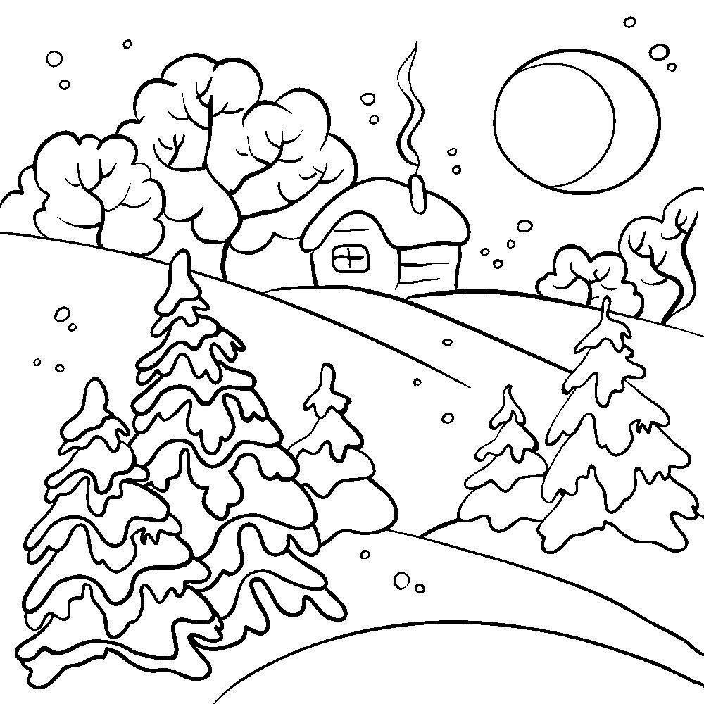 Зимние картинки новый год для срисовки