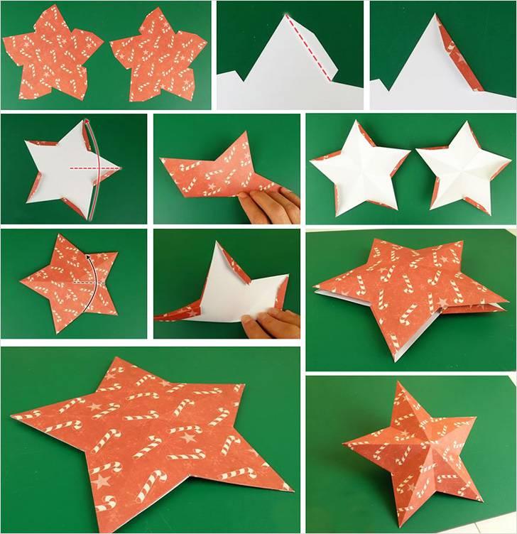 Мубарак, объемная звезда в открытке