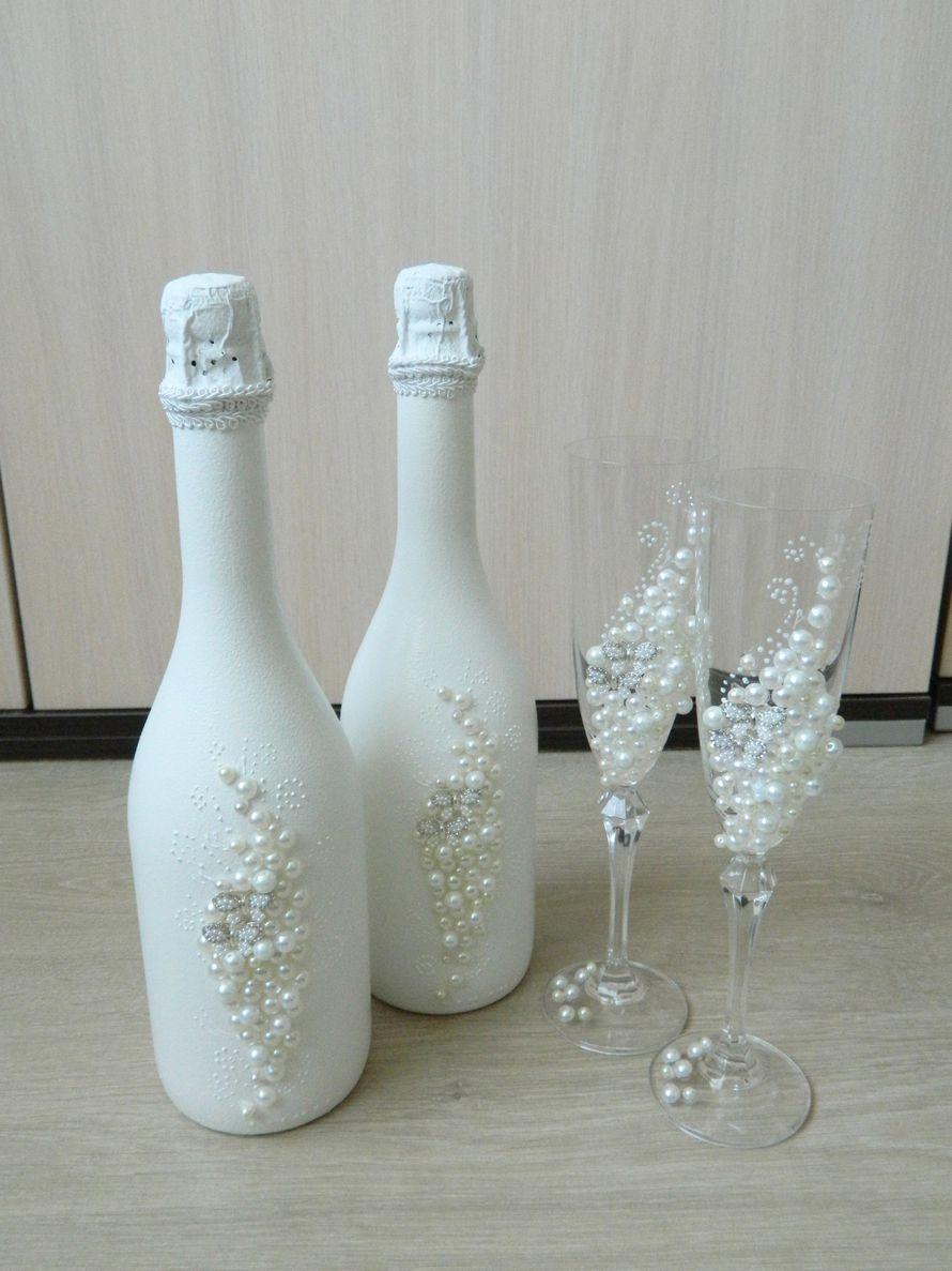 5-5 Украшение шампанского на свадьбу - Pion-decor