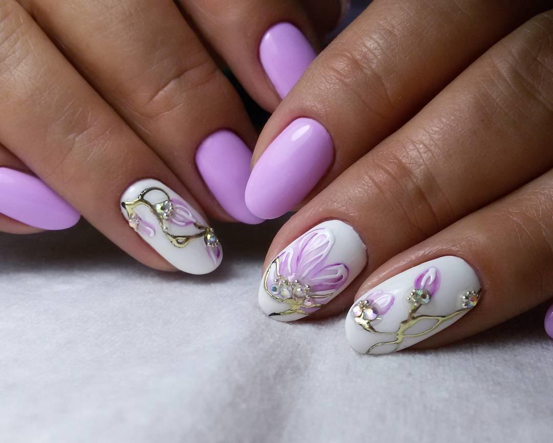 Дизайн ногтей с тюльпанами фото данной фотографии